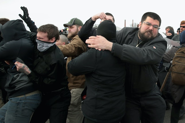 Richard Spencer's last speaking event in Michigan resulted in 25 arrests between anti-fascists and white nationalists who fought outside the event.