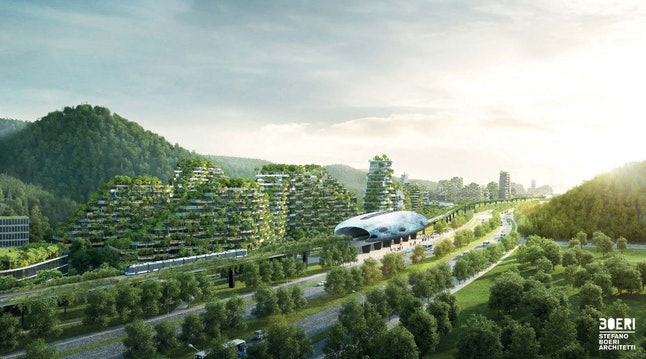 The forest city will be connected to the main Liuzhou city.