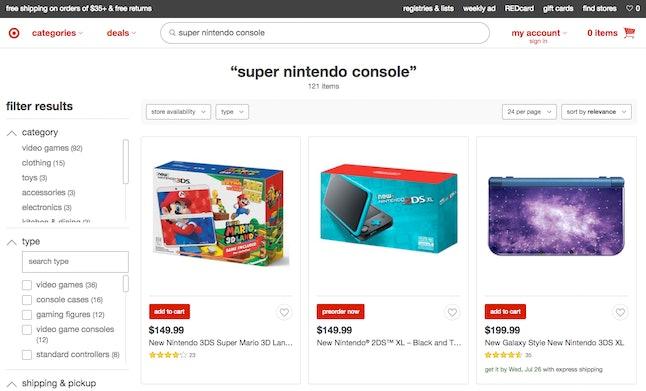 No SNES Classics or Super Nintendos to be found