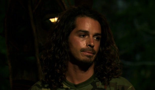 Long-haired Ozzy in 'Survivor: South Pacific'