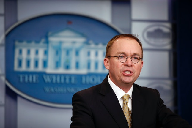 Interim Consumer Financial Protection Bureau Director Mick Mulvaney