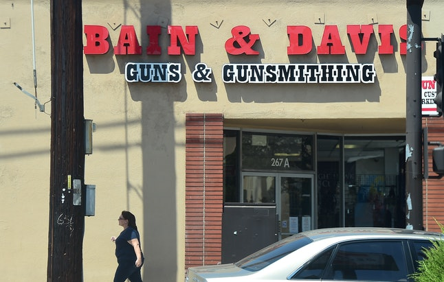 A gun vendor in San Gabriel, California