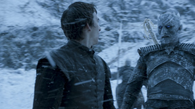 Bran Stark interacts with the Night King during one of his visions.