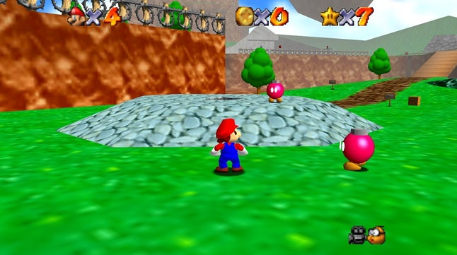 'Super Mario 64' introduced the friendly pink bob-ombs.