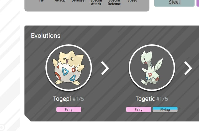Pokémon Go's Gen 2 Togepi is only one number away from Togetic in the Pokédex.