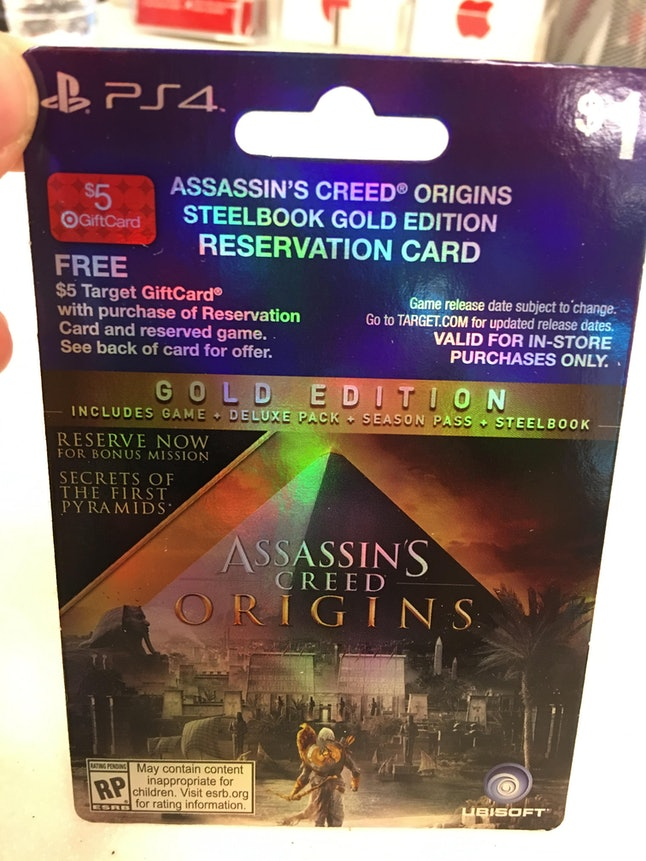 The alleged preorder card from Target