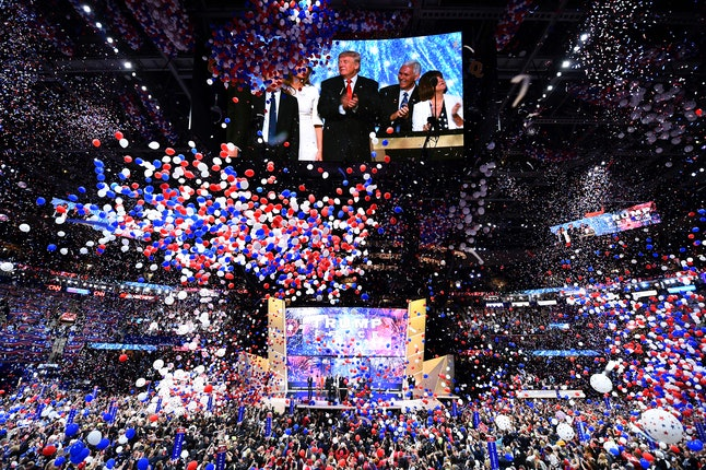 Donald Trump celebrated becoming the GOP's White House choice at the Republican National Convention.