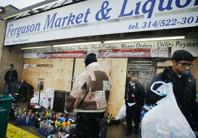 The Ferguson convenience store where Michael Brown was seen on surveillance footage.