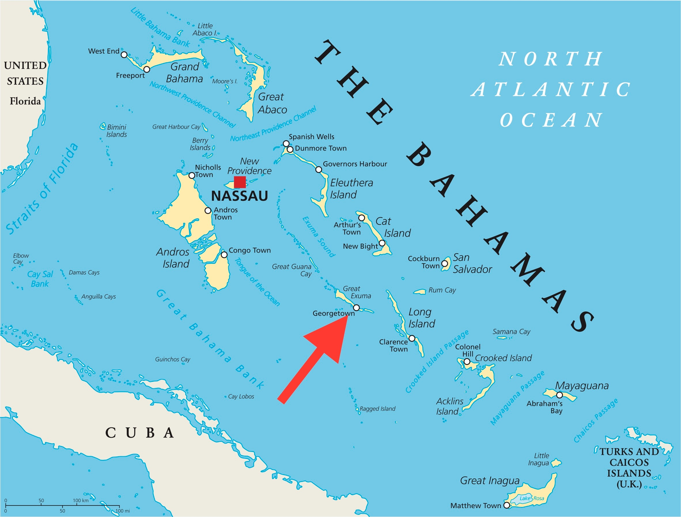 george town bahamas map One Year After The Failed Fyre Festival A Look At How Tourism In george town bahamas map