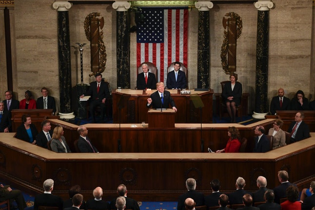 President Donald Trump delivers his State of the Union address on Tuesday.