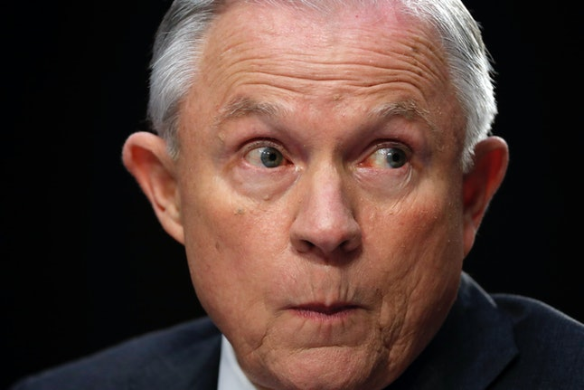 Attorney General Jeff Sessions testifies before the Senate Intelligence Committee Tuesday.