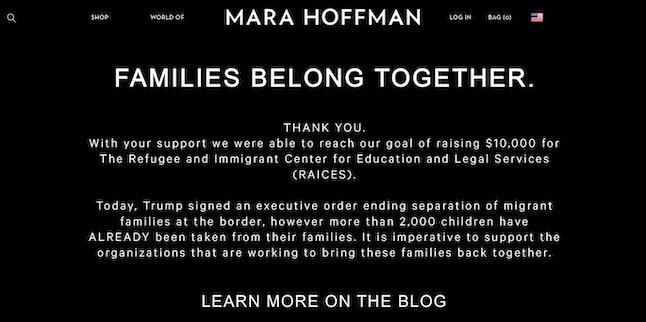 Mara Hoffman's website