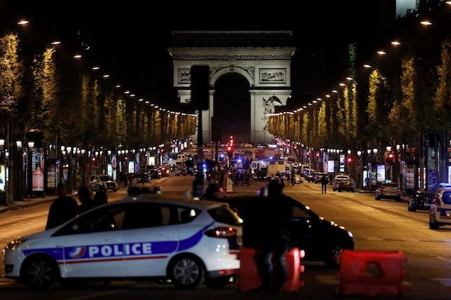 The scene at the Champs-Élysées on Thursday