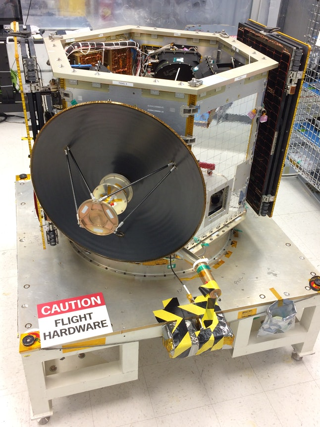 The body of TESS, before instruments like its four wide-field cameras are installed.