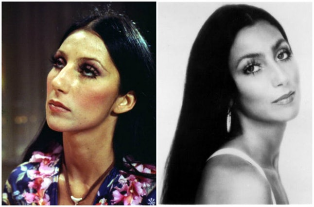 Cher in 1970 and 1974