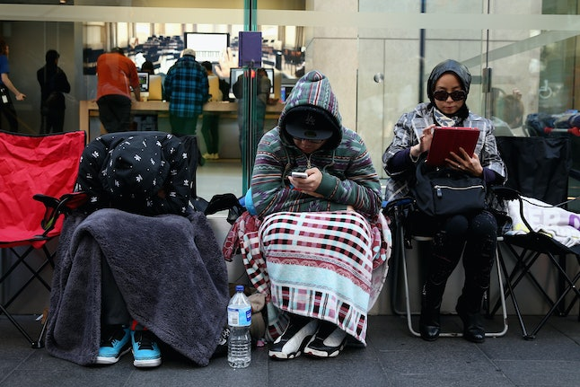 Lining up for the iPhone 6 release in Sydney, Australia.