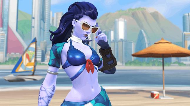 """Widowmaker's Summer Games """"Côte D'azur"""" skin"""