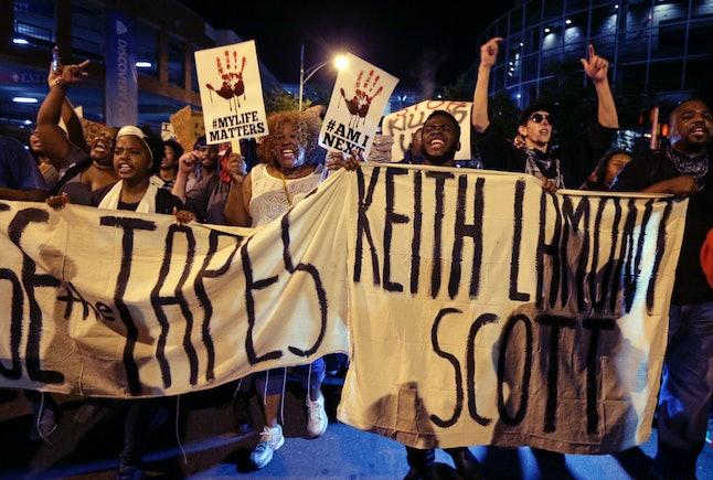 Demonstrators in Charlotte, N.C. 9/23/2016