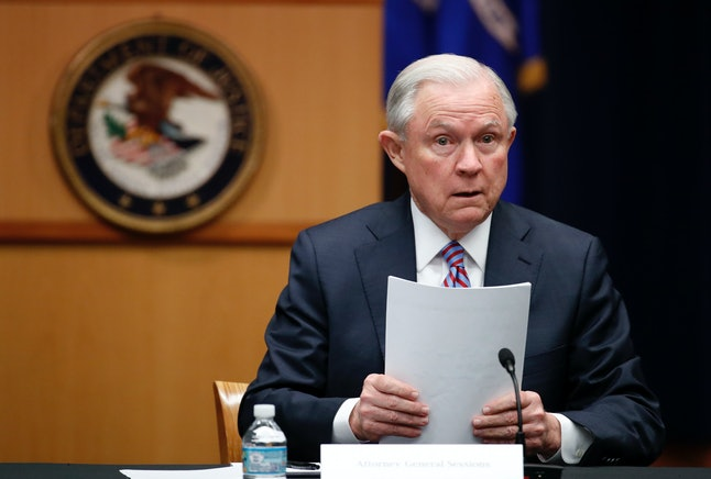 """Attorney General Jeff Sessions said arresting Julian Assange is a """"priority"""" for the U.S."""