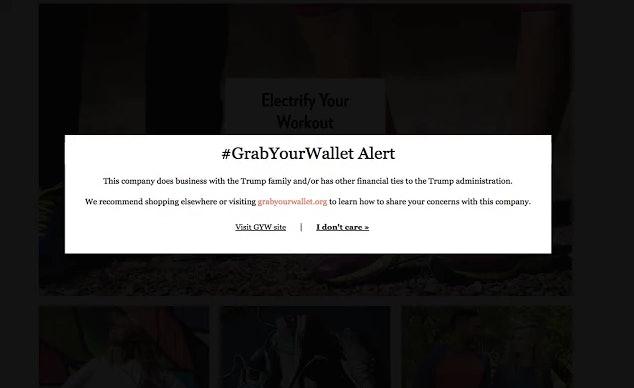 #GrabYourWallet's Chrome extension alert