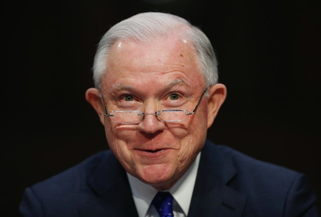 Attorney General Jeff Sessions testifies before the Senate Judiciary Committee on Capitol Hill on Oct. 18.