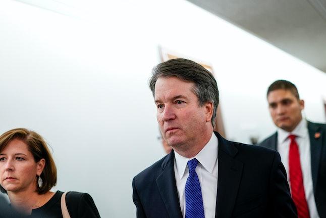 Brett Kavanaugh arrives at a Senate Judiciary Committee hearing on Thursday.
