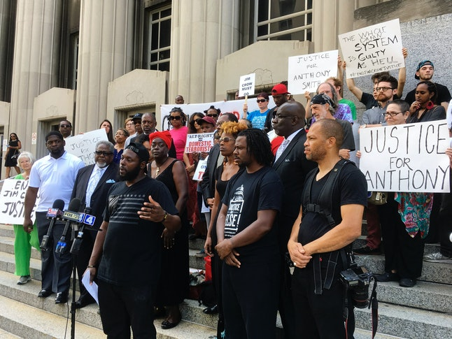 On Aug. 28, activists gathered outside the St. Louis courthouse where former police officer Jason Stockley's murder trial was held.