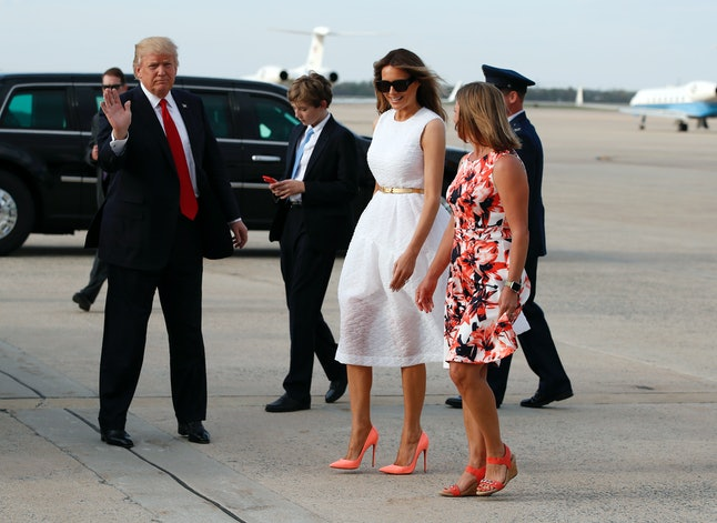 Melania Trump (center) on Easter Sunday