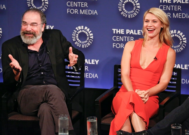 "Actors Mandy Patinkin and Claire Danes discuss ""Homeland"" at PaleyFest New York."