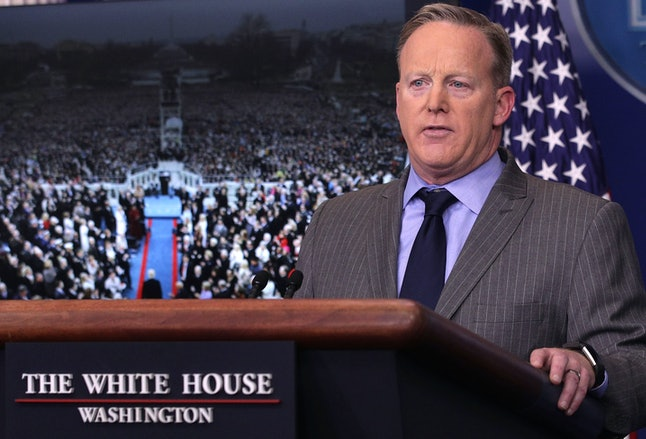 Sean Spicer takes questions about Inauguration Day.