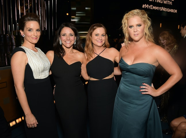 Comedians Tina Fey, Julia Louis-Dreyfus, Amy Poehler and Amy Schumer