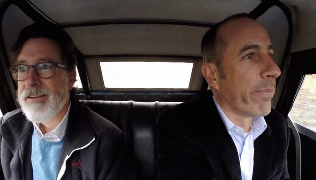 Stephen Colbert and Jerry Seinfeld in 'Comedians in Cars Getting Coffee'