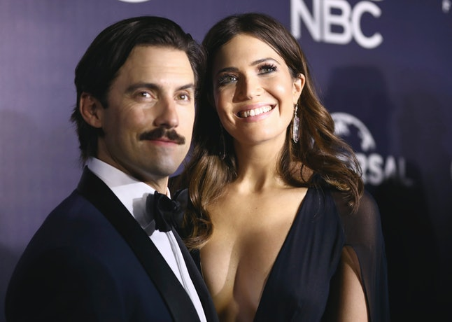 Milo Ventimiglia and Mandy Moore arrive at the NBCUniversal Golden Globes after party at the Beverly Hilton Hotel on Sunday, Jan. 8, 2017, in Beverly Hills, California.