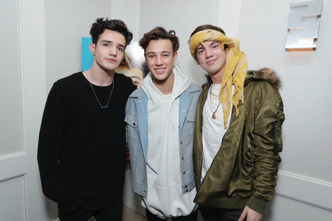 Aaron Carpenter, Cameron Dallas and Taylor Caniff