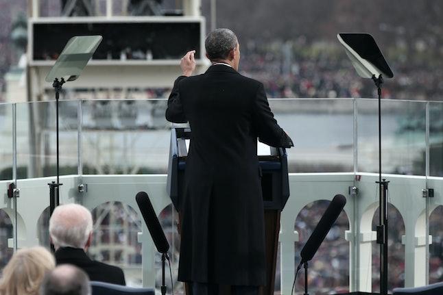 Barack Obama delivered his second inaurural address on Jan. 21, 2013.