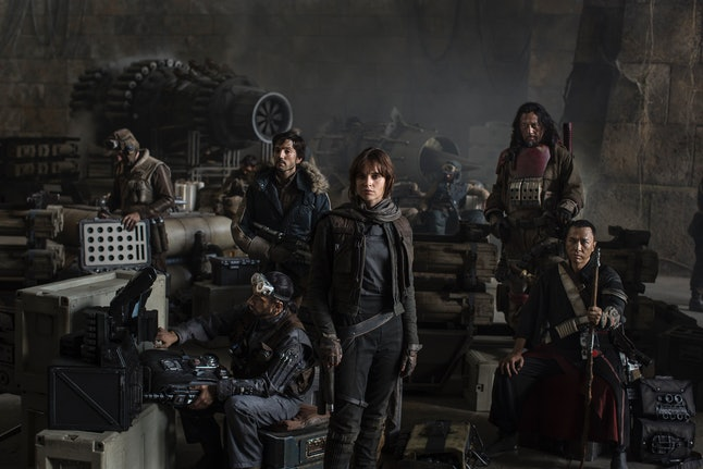 The cast of 'Star Wars' spinoff film 'Rogue One'
