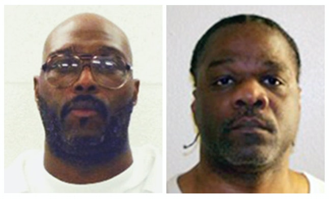 Stacey Johnson (left) and Ledell Lee (right) were scheduled to be executed Thursday. Courts blocked Johnson's to allow further DNA testing, but Lee was put to death in Arkansas' first execution since 2005.