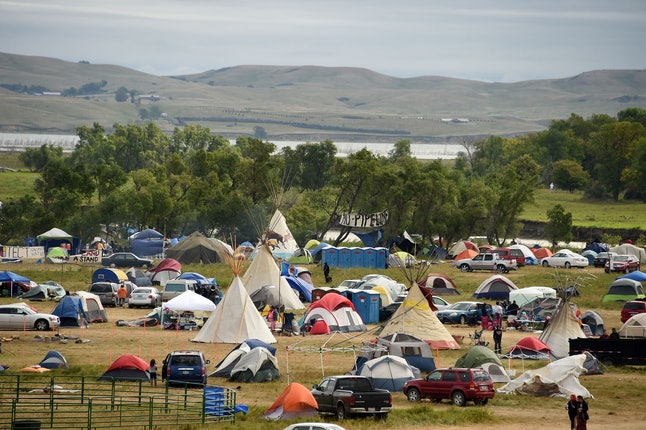 Protesters turned out to protest the Dakota Access Pipeline