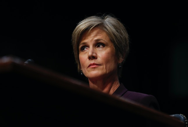 Former acting Attorney General Sally Q. Yates.