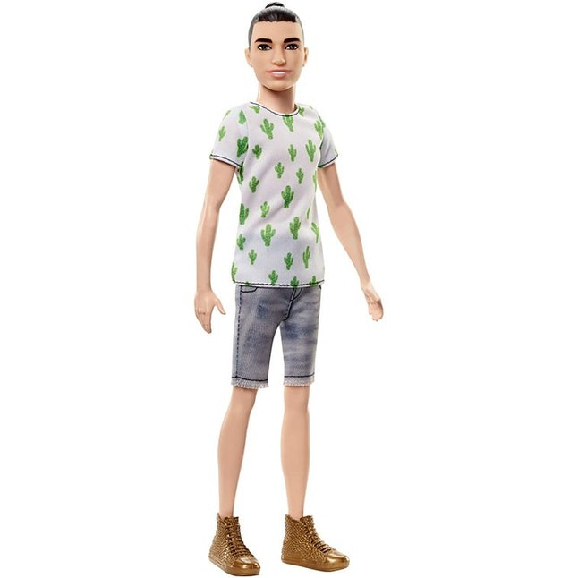 A slim Ken doll with a man bun