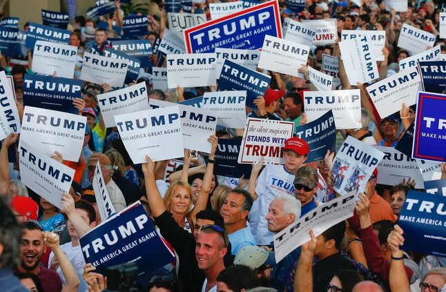 Trump supporters at a rally in Boca Raton, Florida.