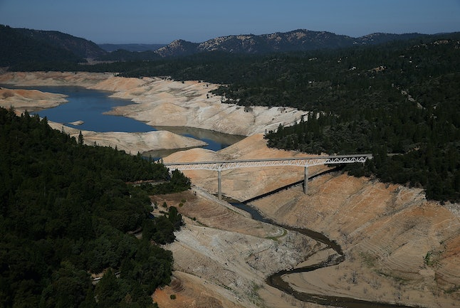 Lake Oroville now.