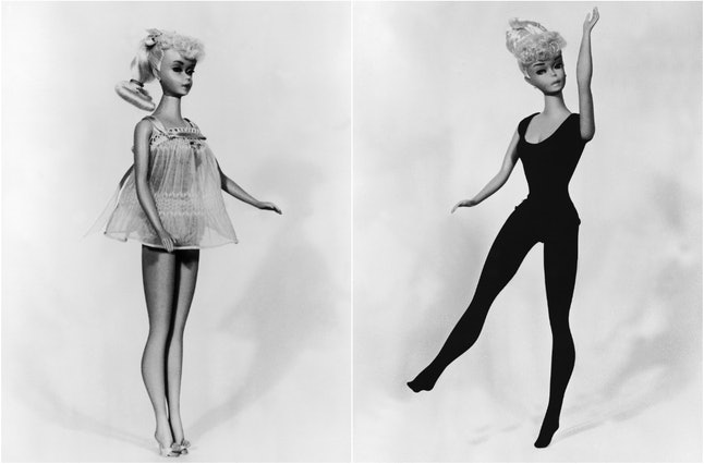 The new Barbie Pin-Up, showcased at the Toy Salon in Lyon, France, in February 1963
