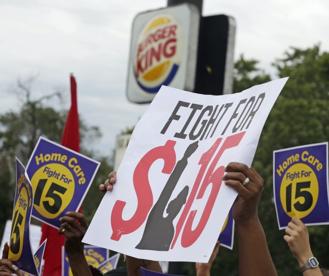 Minimum wage protesters in Chicago