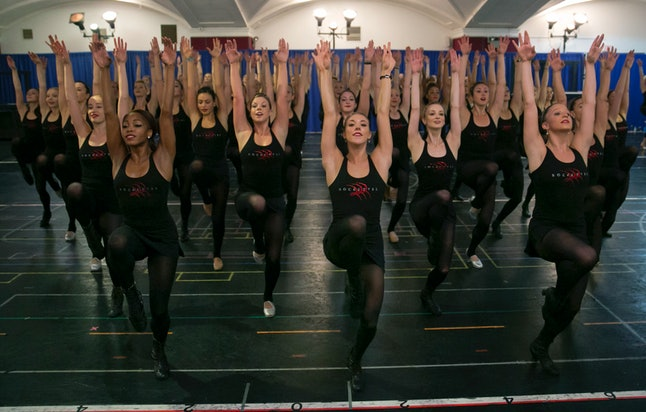 The Rockettes rehearsing for their Christmas show