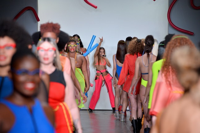 Models at the Chromat fall/winter show during NYFW