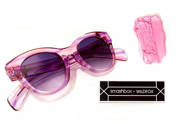 Wildfox x Smashbox Monroe Sunglasses in Breeze and Be Legendary Fan Mail Lipstick