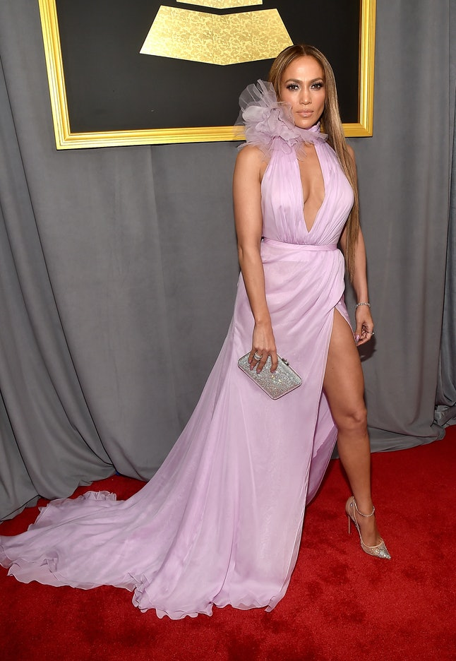 Jennifer Lopez attends The 59th GRAMMY Awards at STAPLES Center on February 12, 2017