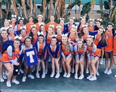 The Timpview Thunderbird cheerleaders.