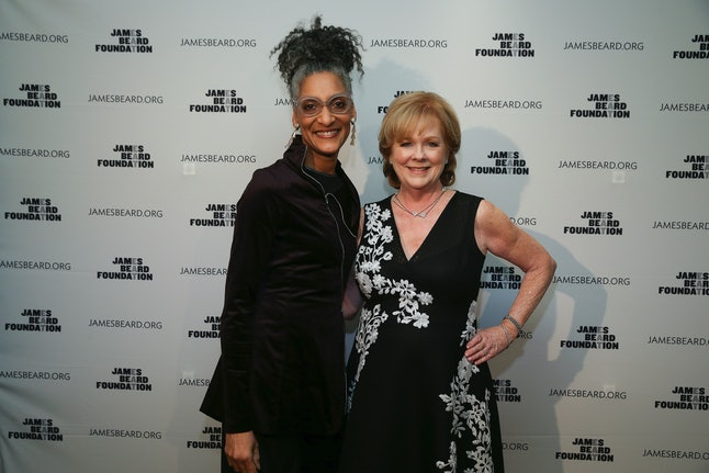 Chef Carla Hall and former JBF president Susan Ungaro at the JBF Gala: A Night of Award Winners in 2017